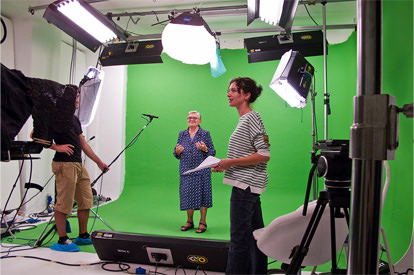 Riprese video su chromakey greenscreen - Studio154