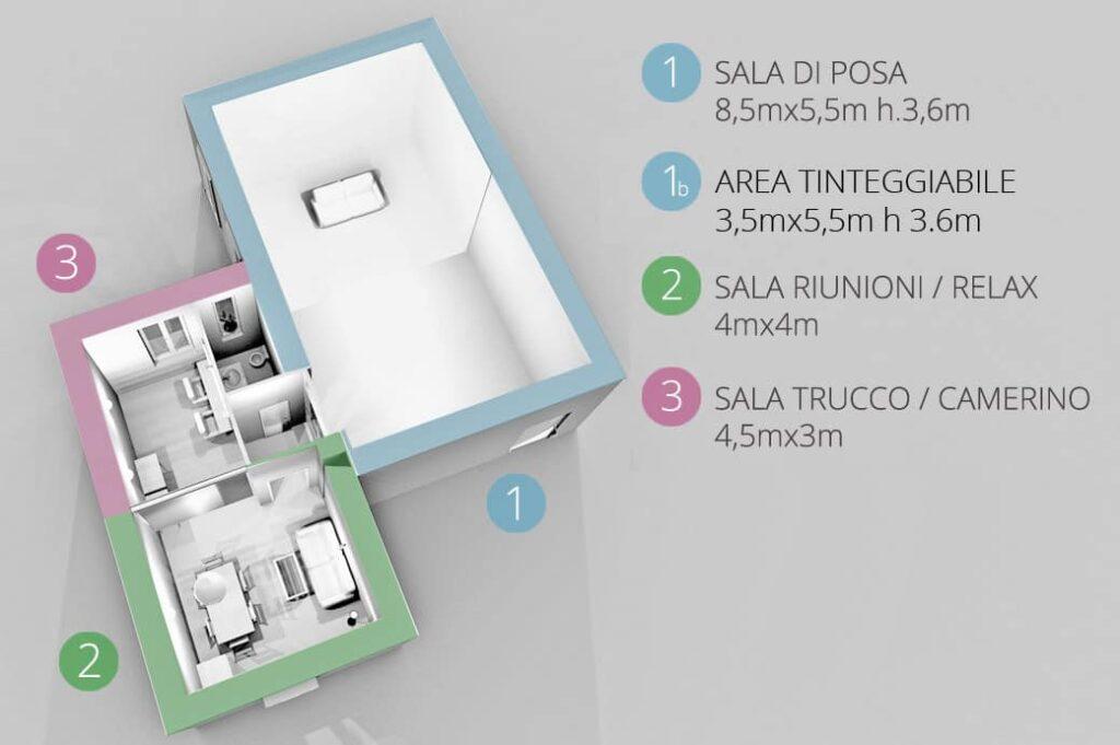 Pianta Planimetrica Studio Fotografico